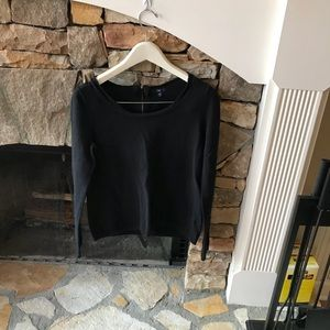 Gap Black sweater with gold zipper in the back